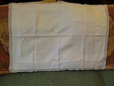 White Victorian embroidered cotton pillow cases