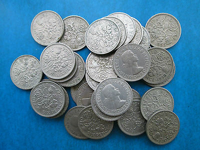 Queen Elizabeth II Lucky Sixpence choose your date(s) 1953-1967