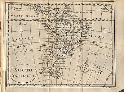 1804 Antique Map- South America