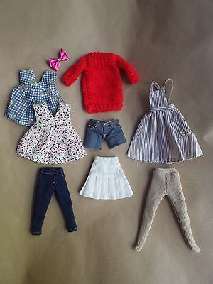 azone pure neemo licca blythe clothes lot dress shorts jeans skirt
