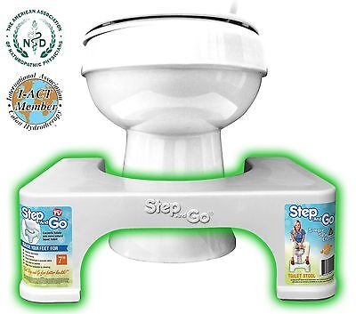 """Step and Go Toilet Stool 7"""" NEW - Proper Toilet Posture for Better and Health"""