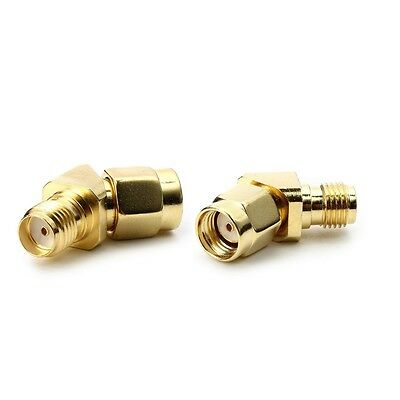 45/135 Degree RP-SMA Male to SMA Female Antenna Adpater Connector For FPV Goggle