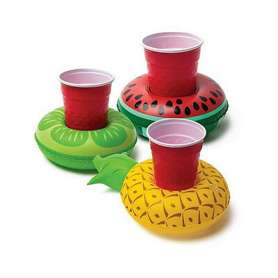 Fruit Floating Inflatable Drink Can Holder Swimming Pot Party Funny Toy