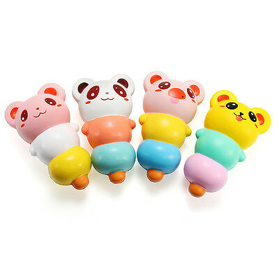 LeiLei Squishy 15cm Pierced Haw Berries Candy Stick Bear Pig Slow Rising