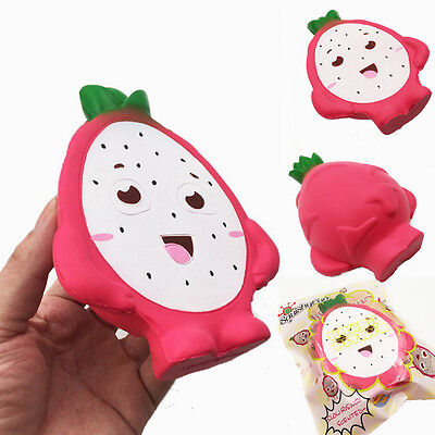 Squishyfun Pitaya Squishy Jumbo 14cm Dragon Fruit Slow Rising Original Packaging