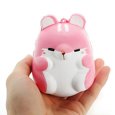Squishy Pink Hamster 10cm Slow Rising Cute Animals Collection Gift Decor Soft