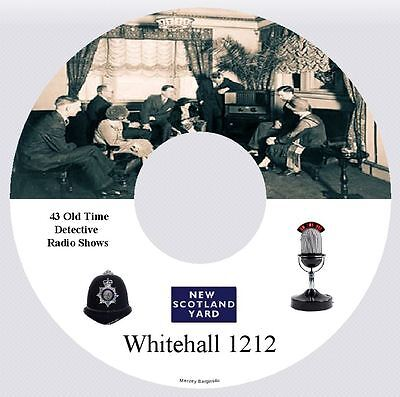 WHITEHALL 1212 - 43 Old Time Detective Radio Shows MP3 CD