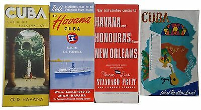 Rare Vintage Old Modern Havana Cuba P&O SS Florida Travel Brochure Pamphlet LOT