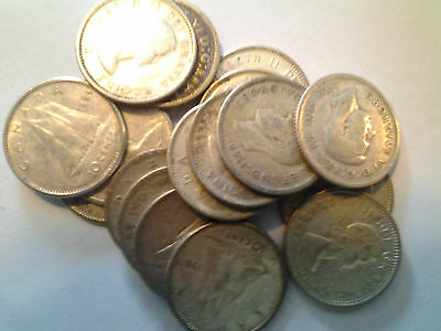 (1) x 80% Silver Canadian Dime - Average Circulated