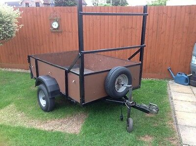car trailer 6 X 4 with ladder rack , spare wheel