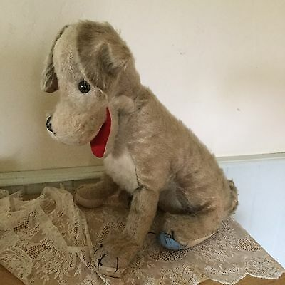 Lady And The Tramp Vintage Dog C1956 Stuffed Toy Merrythought Disney Straw