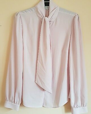 Austin Reed Classic Vintage Retro Blouse Quirky Pink Unusual Size 10 Feminine