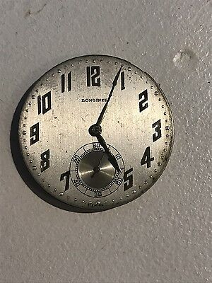 Vintage Longines 17.89M Pocket watch Movement & Dial!!