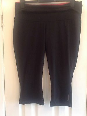 Reebok Ladies Black Crop Gym Leggings. Size XL. Size 20-22. BNWOT