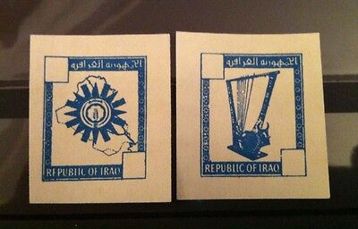 Iraq Two of 1960's stamps, Imperf Trails, see pictures!!!!