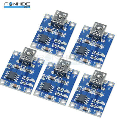 5PCS 5V 1A  TP4056 DC Mini USB Lithium Battery Charging Board Charger Módulo