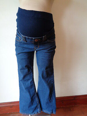 New Look Yes Yes Maternity Blue Over Bump Bootcut Jeans Size 10 Short