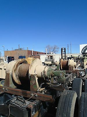 Dp WINCH first layer 55,000 lb two speed hydraulic military (working, GOOD)