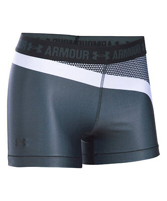 UNDER ARMOUR Stealth Gray HeatGear Engineered Shorty Shorts SMALL - NEW WITH TAG