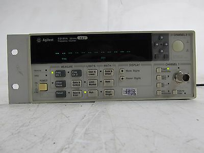 Keysight Agilent HP 53181A RF Frequency Counter 225 MHz OPT 010 Working