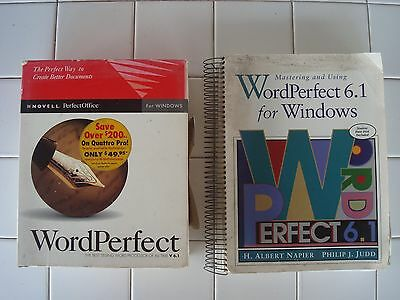 WordPerfect V6.1 For Windows 3.1, IN BOX, Plus Mastering Book