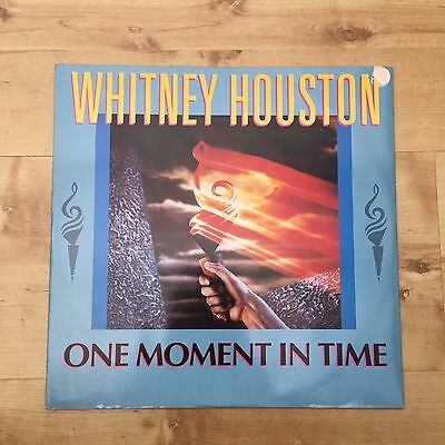 "Whitney Houston - One Moment In Time 12"" Vinyl Single EX/EX"