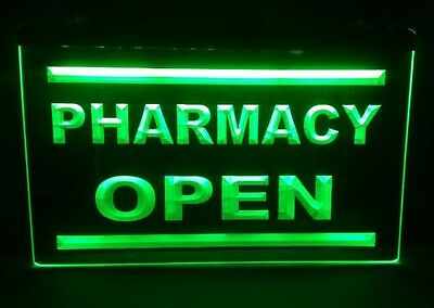 Drug Store Window Sign / Pharmacy OPEN storefront sign / Drugstore advertising