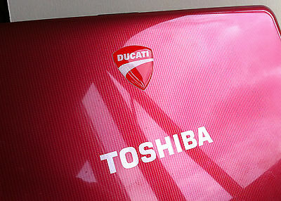 TOSHIBA Ducati 3D domed sticker badge for Toshiba  laptop [H199]