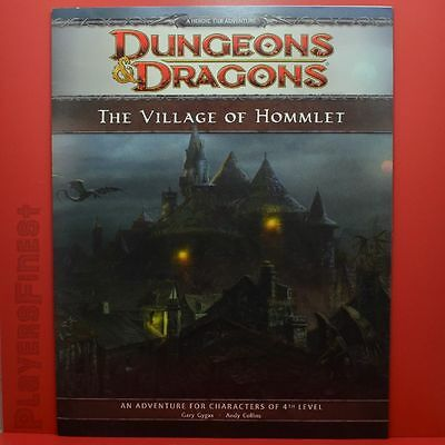 D&D Dungeons & Dragons, The Village of Hommlet, 4th Edition Adevture