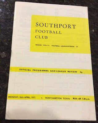 Southport v Northampton Town 26/04/71 Programme And Football League Review Mint