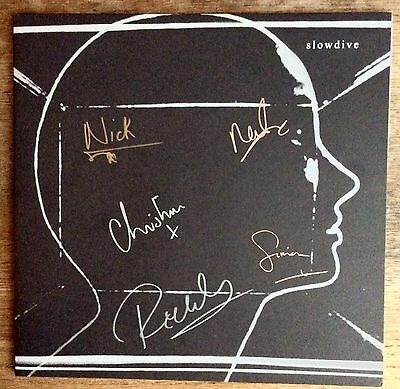 Slowdive 2017 Signed LTD Silver Vinyl UK Dead Oceans LP Sgn x5 to front Sleeve