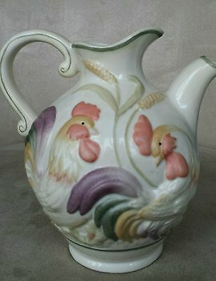 LENOX Country Fresh Rooster Jug Pitcher Pot 2003 Chickens 36 Oz Farmhouse Decor