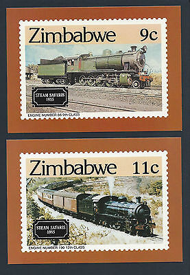 Rhodesia/Zimbabwe PHQ Cards 1985 Trains & 1986 Motoring (See scans)