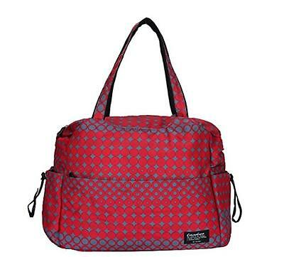 Large Travel Baby Diaper Shoulder Bag Tote Satchel Waterproof Nylon Red