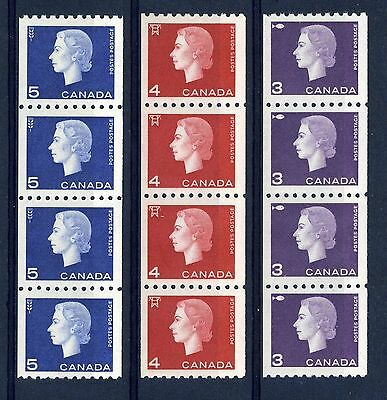 CANADA Scott 407 to 409 - NH - Cameo Strips of 4 (.009)