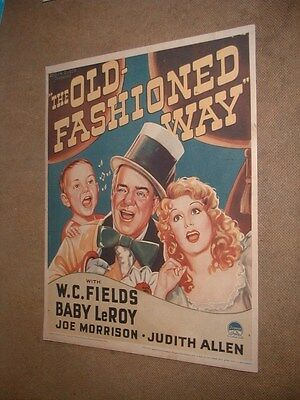 "The Old Fashioned Way Reduced Size Poster W.C. Fields 11"" x 14""  on Kodak Paper"