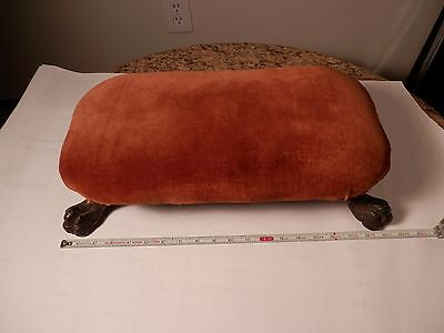 Antique claw foot Foot Stool Ottoman