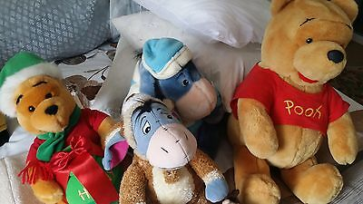lot of plush toys winnie the pooh eeyore