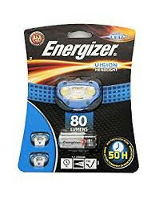 NEW Energizer Vision 80 Lumens Super Bright Headlight LED with 3 AAA Batteries