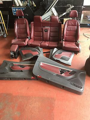Vw Eos Red Burgundy Leather Interior Seats