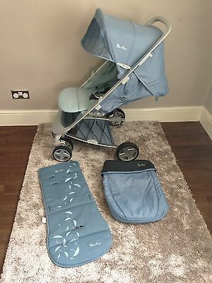 Silver cross Halo Baby Blue Pushchair Stroller