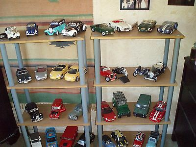 Collection of 86 diecast cars and two M/c combinations all 1:18 scale die cast