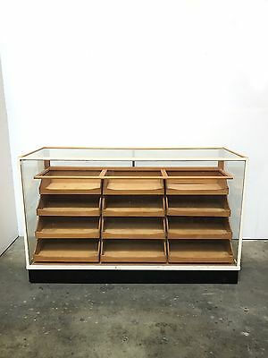 60s 70s Vintage Retro Haberdashery Display Shop Counter drawers unit sideboard
