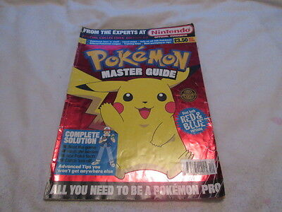 Nintendo official Pokemon Master Guide RED BLUE MAGAZINE Collector's Edition #2