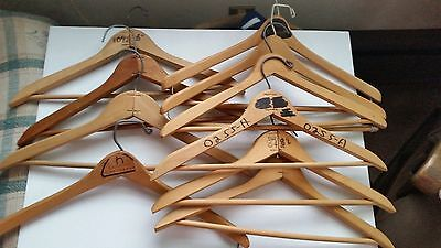 Lot Of 10 Vintage Wooden Clothes Hangers!!!