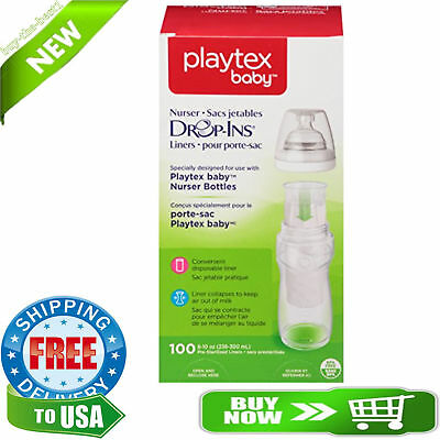 Playtex Drop-Ins BPA-Free Bottle Liners for Playtex Nurser Bottles - 8 Ounce
