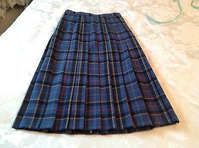 "Vintage Ladies Pitlochry TARTAN Skirt - Very ""The CROWN"" - Size 12"