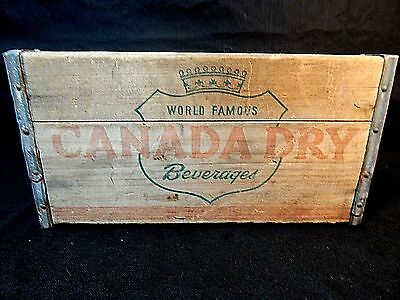 Vintage Canada Dry Soda Wood Bottle Crate Box Case 1949 Treen Philidelphia