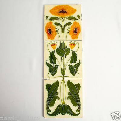 Art Nouveau Tiles Set x3