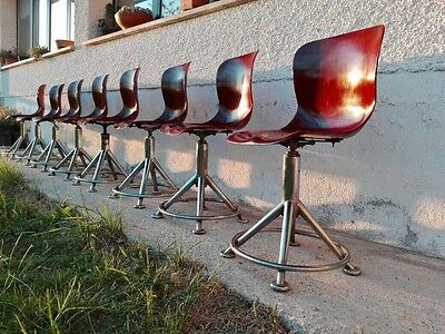 Pagholz 8 Sedie Modernariato 50's Industrial Vintage Chairs